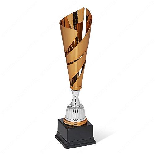 Technocoppe Trofee voor Sportive Cup bronskleurige cup met laser gesneden kelk 40,50 cm premio trofee geschenk De gepersonaliseerde kaart is gratis