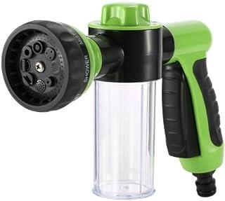 Floratek Multifunctional Car Wash Nozzle with Soap Dispenser 8 in 1 High Pressure Garden Hose Nozzle Car Foam Wash Gun for...