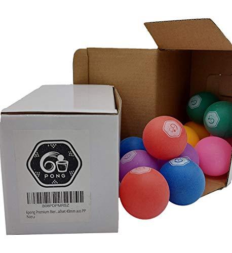 6pong® - Juego de pelotas de ping-pong (12 unidades, ideal para beerpong y otros juegos de beerpong, 40 mm, polipropileno)