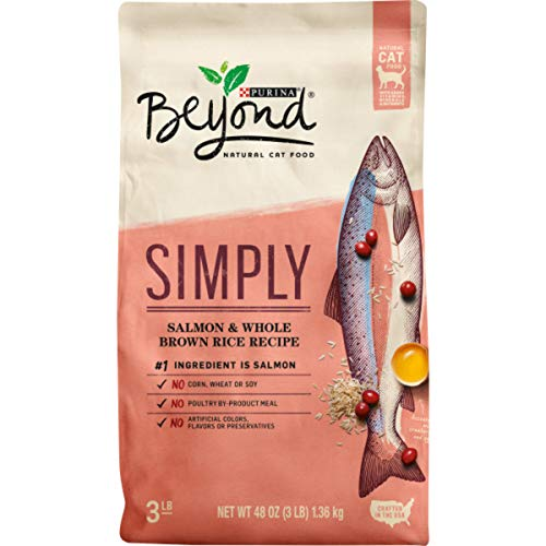 Purina Beyond Natural Limited Ingredient Dry Cat Food, Simply Salmon & Whole Brown Rice Recipe - 3 lb. Bag (12247815)