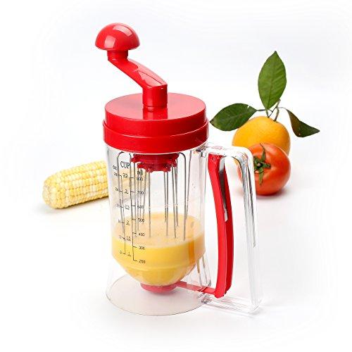 Somore Manuale Dispenser e Miscelatore con Misurazione per Waffle, Pancakes, Cupcakes, Muffin e Pasticceria- essenziali cuociono l'attrezzo