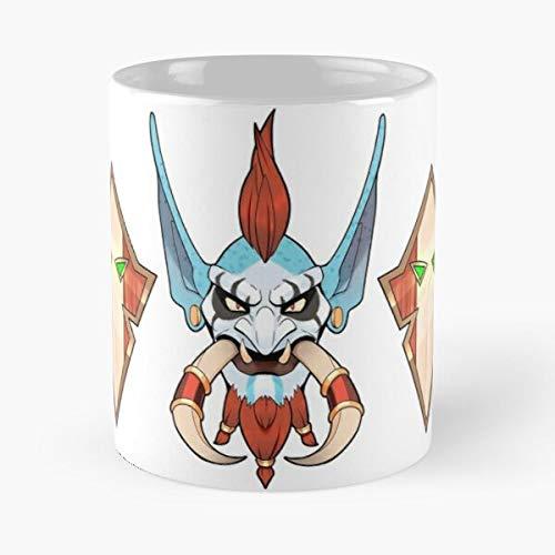 Fantasy of Horde Troll Blizzard Voljin World Entertainment Warcraft Best Taza de café de cerámica de 11 onzas