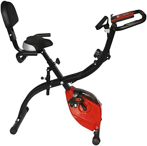 Bicicleta Estática con Bandas De Resistencia Bicicleta Estática Plegable De Cardio con Sensores De Pulso Pantalla LCD mwsoz