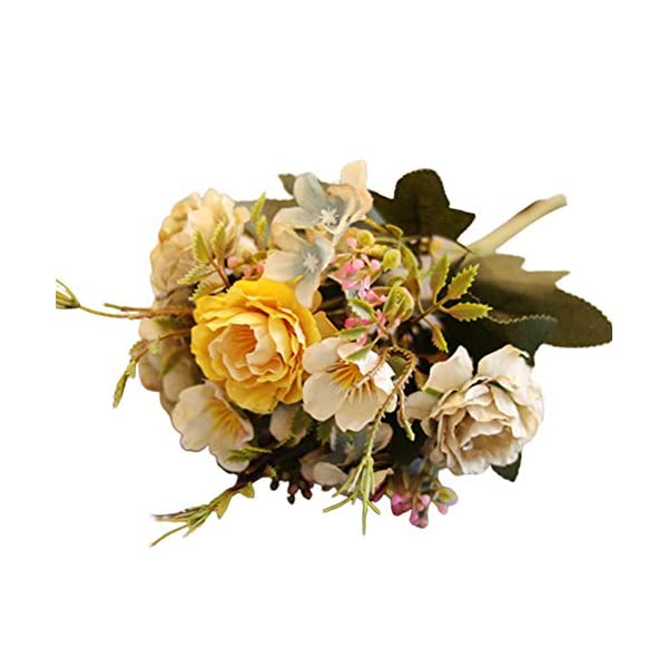 Academyus Decorative Silk Artificial Flower 1Pc 30cm Artificial Fake Peony Flower Desktop Ornament DIY Home Wedding Decor
