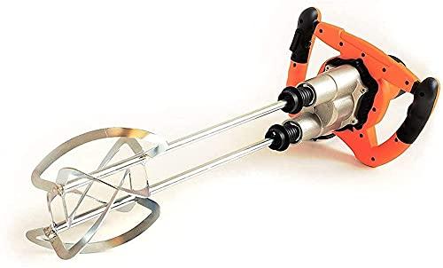 Mezclador de cemento de hormigón del agitador 1800W mezclador de cemento eléctrico 6 Velocidad variable, mortero de la varilla de taladro de acero inoxidable, para el mezclador de mano de mortero para