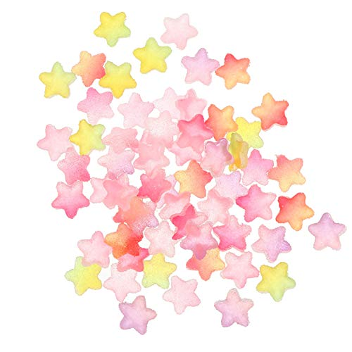 EXCEART 60pcs Star Resin Flatback Charms Cabochons for DIY Crafts Scrapbooking Jewelry Making Phone Case