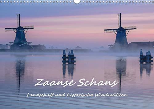 """Zaanse Schans - Landschaft und historische Windmühlen (Wandkalender 2021 DIN A3 quer): Eine Reise durch den alten """"Zaanse Stil"""" - pittoresk, historisch, malerisch (Monatskalender, 14 Seiten )"""