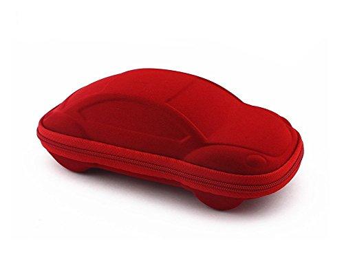 Étui à lunettes Kentop - Pour enfant - Avec fermeture éclair - Rouge