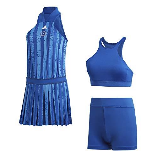 adidas All-IN-One DRES Vestido, Mujer, Azurea/Blanco, L