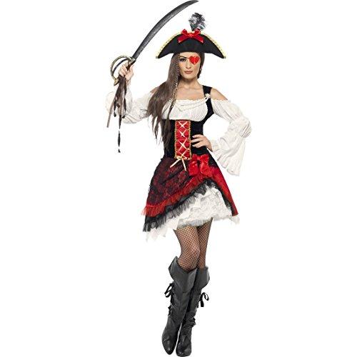 NET TOYS Déguisement Pirate Costume de Pirate Femme Déguisement Pirate Robe de Pirate Costume Pirates Robe Baroque S 38/40
