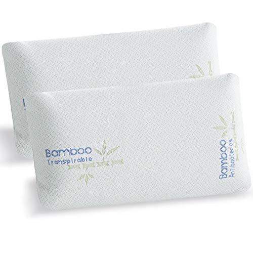 Jarrous Pack de 2 Almohadas Viscoelásticas Modelo Mini Viaje, Color Blanco, Medida 43 cm