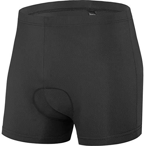 qualidyne Men's Bike Cycling Underwear Shorts 3D Padded Bike Undershorts Bicycle MTB Underpants - Breathable & Comfortable Black