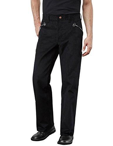 PIONIER WORKWEAR Herren Cord-Arbeitshose Herforder Zunftkleidung in schwarz (Art.-Nr. 69) Größe 52