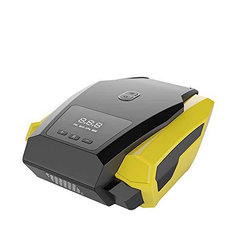 Newut Bomba de compresor de neumáticos portátiles de Pantalla Digital Inteligente de 12V DC con manómetro, Adecuado para Bicicletas, Motocicleta, Bola y Otra inflación