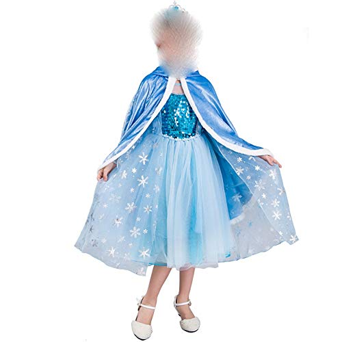 Xiao Jian- Frozen Prinses Jurk Aisha Meisje Jurk Lange Mouw Aisha Jurk Dun Zomer Nieuwe Tutu/Blauw dansen unifom