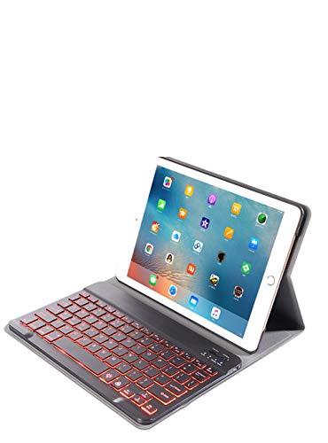 Webla Funda para tableta Funda para teclado Bluetooth Color retroiluminado para Ipad Air3 / Pro 10.5 / Ipad 10.2(rosa rojo)