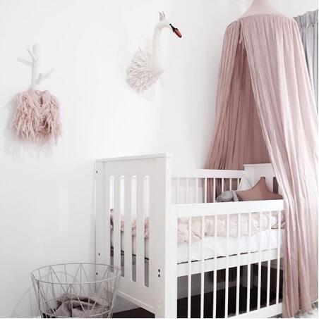 Moaeuro Fashion Nordic Style Dome zanzariere tenda principessa per biancheria da letto Bed Netting Kids Room Decor