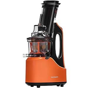 Extractor de zumo OURSSON Licuadora Prensado en Frio Licuadoras para verduras y frutas | Máquina de Jugo | Slow Juicer | Función Inversa | Motor Silencioso | Cepillo limpieza | Taza de jugo | Sin BPA