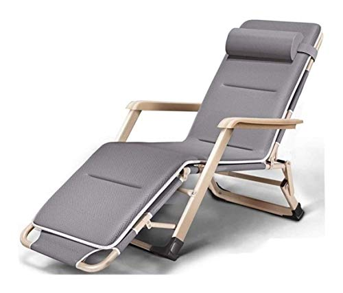 SCJ Tumbona Plegable para jardín, Cama Plegable, reclinable Individual, Tumbona Super Suave para Descansar por la Tarde, portátil, Plegable, para Oficina, para Descansar al mediodía, Cama de oci