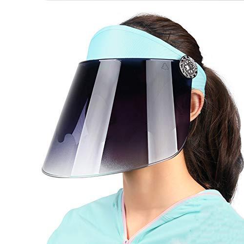 STAD Sonnenmütze Männer Frauen Sonnenblende Hut UV-Schutzhut Radmütze Wanderstrand Im Freien Sonnenblende Hut 46-58 cm,Blau