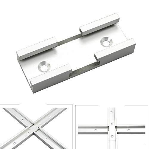 ZGYQGOO 1Pc T-Gleiskreuzung Teile Chute General Purpose Griff aus Aluminium Holzverarbeitung DIY T-Track-Schnitt