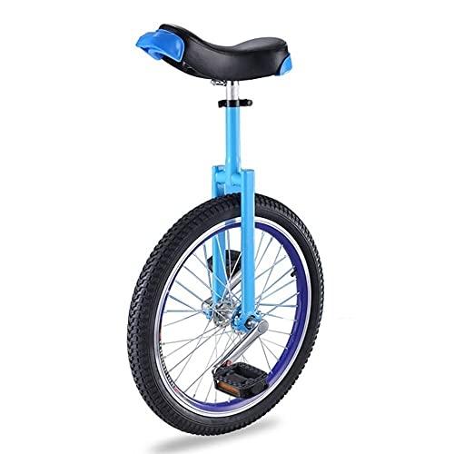 aedouqhr Monociclo de 20 Pulgadas para niños Azul, Marco de Acero, Bicicleta de Ejercicio con Equilibrio de una Rueda para Adultos, Adolescentes, Hombres, niños, montaña al Aire Libre (Color: Estilo
