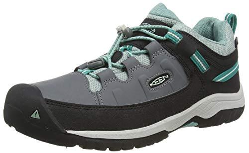 KEEN Unisex-Kinder Targhee, Imperméable Trekking- & Wanderhalbschuhe, Schwarz (Steel Grey/Wasabi 001), 37 EU