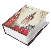 PRAMY 100写真ポケットフォトアルバムインタースティシャルフォトブックケースキッドメモリーギフト、ベルタワーレトロインサートアルバム、ベルタワー