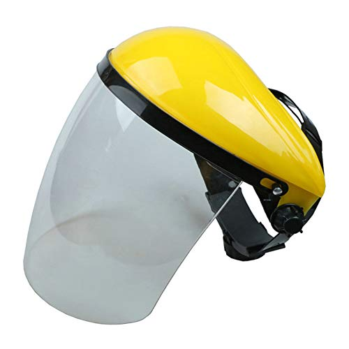 Lassen en polijsten Helm van de Veiligheid, Splash en Burn-proof Protective Screen, Clear Full Face Shield Face Mask, PC Lens voor het snijden en repareren,B