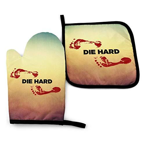 wenxiupin Ofenhandschuhe und Topflappen BBQ Handschuhe, Unkraut Symbol Mikrowelle Kochhandschuh Küche Hitzebeständige Baumwolle zum Backen Unkraut Symbol