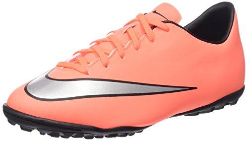 Nike Unisex-Child, Fußballschuhe, jr mercurial victory v tf, mehrfarbig (brght mng/mtllc slvr-hypr trq), 36