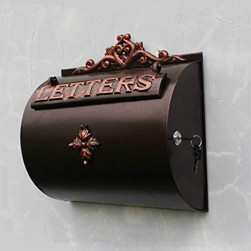Garden Accessories Horizontal Cylinder Aluminium Wall Letterbox Home Garden Decor Antique Copper Letterbox Outdoor Magazine Newspaper Storage Box Karaoke Microphone Weatherproof Galvanised