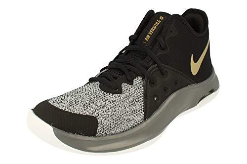 Nike Air Versitile II Herren Hi Top Basketball Trainers AO4430 Sneakers Schuhe (UK 8 US 9 EU 42.5, Black metallic Gold Dark Grey 005)