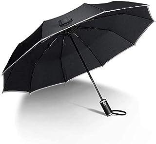 Wsky 折りたたみ傘 自動開閉 おりたたみ傘 メンズ 反発防止 反射テープ付き 頑丈な10本骨 耐強風 梅雨対策 晴雨兼用 Teflon撥水加工 収納ポーチ付き 新型