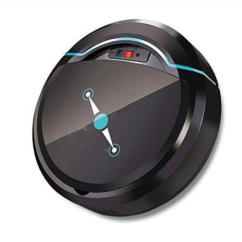 JIANFCR  Elettrodomestici USB Automatico di Pulizia Ricaricabile Robot Intelligente Pavimento Aspirapolvere Robotico Spazzatrice Aspirante Sweeping Tool (Nero)