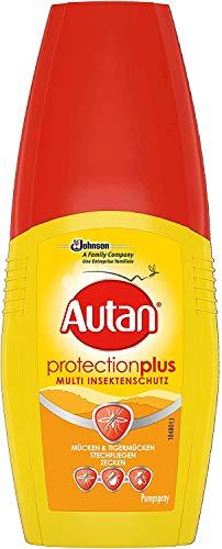Autan Protection Plus, Pumpspray, Multi-Insektenschutz vor Mücken und Zecken für Körper & Gesicht, 100 ml