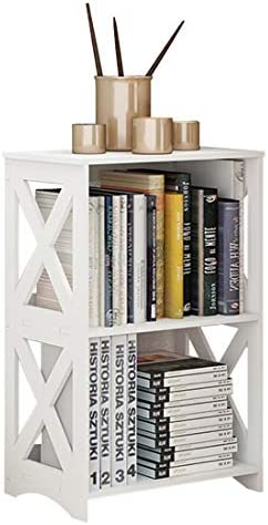 RIIPOO Side Table Small End Bedside Table White Nightstand Shelves for Small Spaces Living Room product image