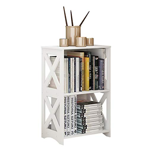 Riipoo Side Table, End Bedside Table, White Nightstand, Small Bathroom Table Shelf for Small Spaces, Living Room, Office, Dorms