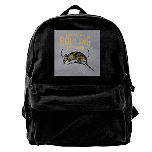 They See Me Rollin Armadillo Rusa Gym Hiking Laptop Shoulder Bag Daypa for Men Women