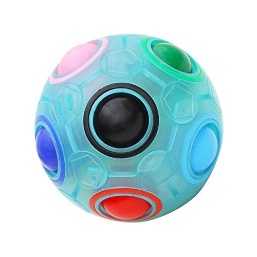 KidsPark Magic Ball Regenbogen Ball Zauberwürfel 3D Puzzle Ball Speed Cube Würfel Regenbogenball Toy Pädagogische Spielzeug Leuchtend
