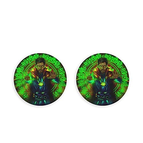 Doctor Who - Set di 2 magneti per frigorifero colorati adesivi rotondi con bottone magnetico per lavastoviglie e cucina, 2 pezzi