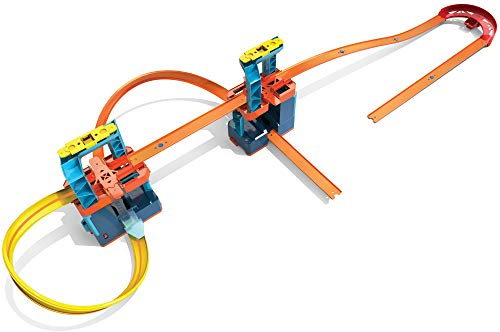 Hot Wheels Track Builder Unlimited Ultra Stackable Booster Kit Motorized Set 5 Plus Configurations Stunt Parts Compatible with Hot Wheels id Gift idea for kids 6 7 8 9 10 and older