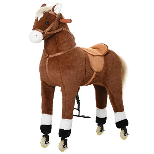 large riding horse with wheels