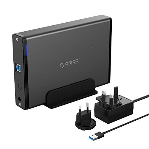 ORICO Aluminium Hard Drive Enclosure 3.5 Inch USB 3.0 External SATA III...