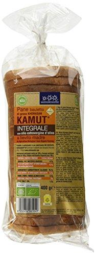 Sottolestelle Pane Bauletto Khorasan Kamut Integrale - 3 pezzi da 400 g [1200 g]