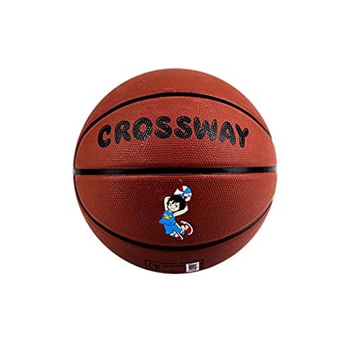 Baloncesto de goma para niños tamaño 3-4-5 Baloncesto de dibujos animados para interiores y exteriores, adecuado para niños y adolescentes, será un gran regalo para los niños a los que les gusta el