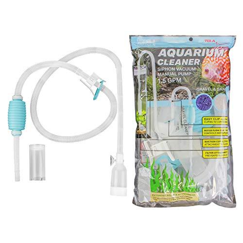 TERA POMPE Véritable Aquarium Fish Tank Gravier Sable Cleaner Long Buse Changeur D'eau Contrôleur De Débit Sans BPA TRFTCLN