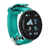 Reloj Inteligente D18S para Hombres, Monitor de Actividad física con Pantalla táctil Completa de 1,3 'con Monitor de frecuencia cardíaca y sueño, Reloj Deportivo Resistente al Agua con Contador
