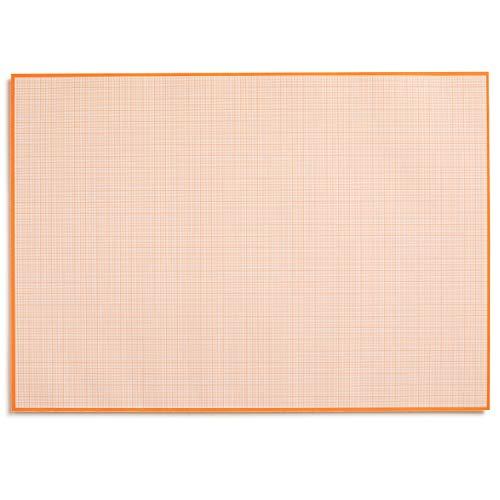Blocco di carta millimetrica per scrivere e disegnare I da strappare I carta matematica con struttura a linea I ufficio e scuola I DIN A2 I grande I arancione I offset 90 g/m² 40 fogli I dv_779