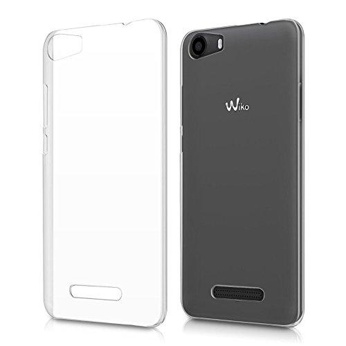 REY Funda Carcasa Gel Transparente para WIKO Lenny 2, Ultra Fina 0,33mm, Silicona TPU de Alta Resistencia y Flexibilidad